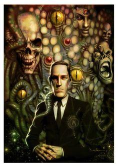 Ilustraciones inspiradas en  H.P. Lovecraft