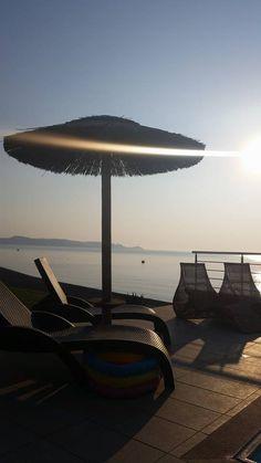 Kiotari Beach Villa www.antonogloubeachvillas.co Rhodes Beaches, Beach Villa, Villas, Wind Turbine, Villa, Mansions