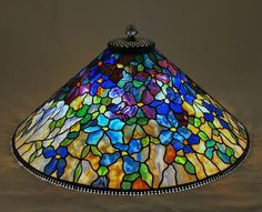 """""""Clematis"""" Stunningly Beautiful Table Lamp ~ Century Studios~ Makers Of Exquisite Reproduction Tiffany Lamps And Fine Stained Glass In Our Minnesota Studios Since 1986 Stained Glass Lamp Shades, Stained Glass Light, Stained Glass Patterns, Stained Glass Windows, Tiffany Art, Tiffany Glass, Tiffany Lamp Shade, Lampe Art Deco, Art Nouveau"""