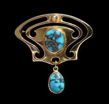 MURRLE BENNETT & Co Art Nouveau Brooch