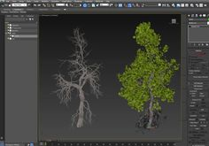 Populate Tree Leaves Using Particle Flow in 3ds Max