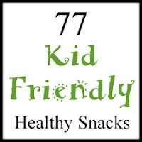 A list of healthy kid-friendly snacks.  You could put small portions of some of these in zip-locks and let kids serve themselves out of a special drawer in the fridge or cabinet.