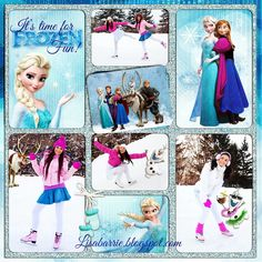 Nordic Flower And Frozen Snowflake Themed Digital