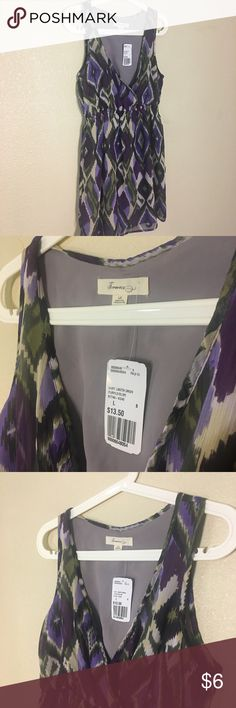 Purple/olive Shirt Lngth Dress NWT Forever 21 shirt length dress in purple and olive with lining. Would look great paired by itself or with leggings. (100% polyester). Ask questions before purchasing, happy poshing 🛒! Forever 21 Dresses
