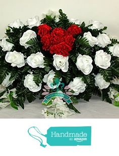Beautiful XL White Roses With Valentine Heart Carnations Cemetery Arrangement from Crazyboutdeco Deco Mesh Wreaths,Cemetery Arrangements https://www.amazon.com/dp/B01N4HDQAV/ref=hnd_sw_r_pi_dp_ahuOybVXH0KQS #handmadeatamazon