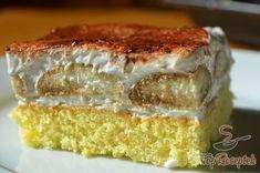 Coffee sponge cake with whipped cream Kaffee-Biskuitkuchen mit Schlagsahne Banana Recipes, Muffin Recipes, Coffee Sponge Cake, Hungarian Cake, Canned Blueberries, Vegan Scones, Scones Ingredients, Dessert Sauces, Coffee Tasting