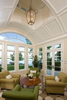 Wonderful Conversation Group in  part of the family room. Amazing Windows, doors, Ceiling flooring & Views by Alexander Design Group, Inc.