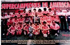 """SUPERCOPA 1994 Foto completa del plantel campeón de la Supercopa 1994, en la desaparecida revista """"Independiente, el orgullo nacional"""".-"""