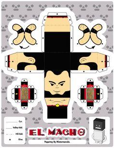 Los Luchadores est une collection de papertoys largement répandue, créée par le designer Mistermanolo, aidé de quelques amis. Hommage au monde de la lutte libre (qui bénéficie d'un fort attrait en Amérique latine), cette série regroupe 12 combattants plus terrifiantsLire la suiteLos Luchadores Série #1