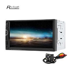 7 2 Din Car Video Player DVD Player 2Din Car Video MP5 Player Touch Screen Bluetooth FM Radio support Rear View Camera (32782394171)  SEE MORE  #SuperDeals