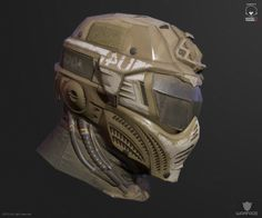 ArtStation - new 3d model for crytek (soldier helmet), Denis Didenko