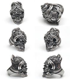 Lunatic Nights: LegioMade []uardian Skull Ring] (silver accessory / / ring /skull ring) - Purchase now to accumulate reedemable points! Skull Jewelry, Jewelry Rings, Jewelery, Silver Jewelry, Silver Ring, Silver Accessories, Fashion Accessories, Fashion Jewelry, Grabar Metal