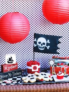 Easily recreated DIY Pirate decorations!