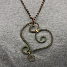 OscarCrow Handmade Jewelry: Wire Heart-wrought iron style in copper
