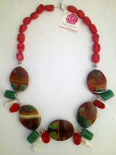 88710dac1bbc Sofia Prono - Collar con 5 piedras de agata