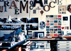 A Few Shots From the Offices of Ray and Charles Eames. The film is great - http://www.pbs.org/wnet/americanmasters/episodes/charles-ray-eames-the-architect-and-the-painter/watch-the-full-documentary-film/1950/