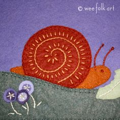 Snail Applique Block | Wee Folk Art