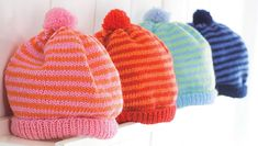 Knit baby hat: 2 instructions for copying Pink, red, blue or white, with lace or with bobble, with ear flaps or simple border: You can knit our hats easily and ac. Baby Hats Knitting, Knitted Hats, Baby Converse, Textiles, Knitting Videos, Handicraft, Free Pattern, Knit Crochet, Winter Hats
