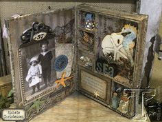 Tim Holtz: New mini configuration book with Sizzix dies and idea-ology embellishments