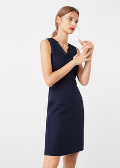 V-neckline dress -  Woman | MANGO Singapore