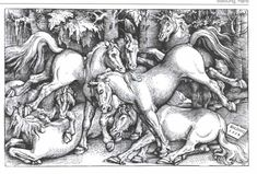 Artist: Hans Baldung Completion Date: 1534 Style: Northern Renaissance Genre: animal painting Technique: woodcut Dimensions: x 21 cm Gallery: Israel Museum, Jerusalem, Israel Hans Holbein, Franz Marc, Hans Baldung Grien, Albrecht Dürer, Group Of Seven, Horse Drawings, Reproduction, Art Database, Old Master