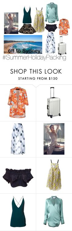"""Sydney Summer Holiday Packing"" by fuzzyslowmo on Polyvore featuring Romance Was Born, ZERO Halliburton, Manning Cartell, Bec & Bridge, Alice McCall, E L L E R Y, Dion Lee, STRATEAS.CARLUCCI and Josh Goot"