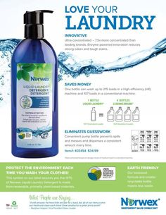 Check out why Norwex Liquid Laundry Detergent is an incredible solution!