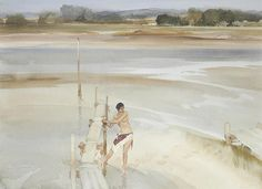 Sir William Russell Flint WATERCOLOR
