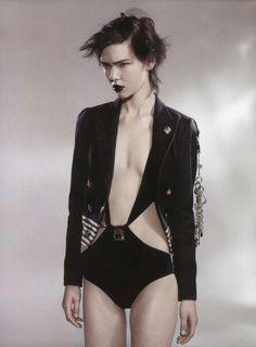 Gloomy Gothic Fashion  The Kolfinna Kristofersdottir Pop Magazine Editorial is Edgily Ebony