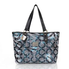 Coach Poppy In Signature Medium Blue Totes CDT Give You The Best feeling!