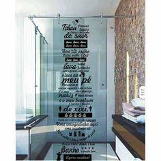 Adesivo Decorativo Banheiro Box Música Ratinho Ratimbum Lava - R$ 39,99