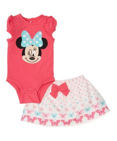 Love this Pink Minnie Mouse Bodysuit & Skirted Bloomers - Infant by Minnie Mouse on #zulily! #zulilyfinds