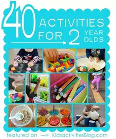 40 activities for 2 year olds feature (Check this site out for activities for kids. Toddler Play, Toddler Learning, Toddler Preschool, Toddler Crafts, Crafts For Kids, Two Year Old Crafts, Toddler Stuff, Craft Activities For Kids, Infant Activities