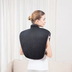 The heat pad has 2 invigorating massage motors to provide a soothing massage. Along with thermal care, it helps to relax the tired soreness muscles in your neck and shoulders, upper back With magnetic clasps, it allows you to wear with your hands-free while on the move, exercising, or relaxing. There is no worry about slipping or falling off Applying heat and massage to your tissues to relieve muscle tension, improve blood circulation and cause your connective tissue to become more flexible Back Massager, Improve Blood Circulation, Muscle Tension, Back Pain Relief, Motors, Muscles, Tired, Relax, Hands