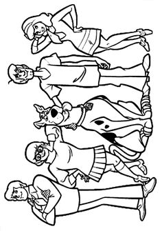 get scooby doo coloring pages