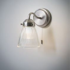 This stunningly chic, retro feel Pimlico bathroom wall light is an ideal solution for all types of bathroom lighting. Bathroom Spotlights, Bathroom Wall Lights, Glass Bathroom, Light Bathroom, Lighting For Bathrooms, Bathroom Lamps, Vintage Bathroom Lighting, Bathroom Furniture, Bathroom Interior