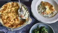 Fish pie is one of The Hairy Bikers' favourite comfort foods, perfect for busy weekdays or lazy weekends. You could make the pie in advance and bake it just before serving.