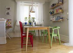 Wnętrza Zewnętrza - blog wnętrzarski: Serce naszego domu, czyli efekty przemeblowania i nowa lampa nad stół