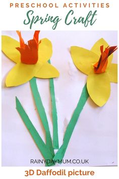 Spring Science for Toddlers - Daffodil Flower Experiment Craft Projects For Kids, Crafts For Kids To Make, Arts And Crafts Projects, Art For Kids, Kids Crafts, Craft Ideas, Spring Arts And Crafts, Creative Arts And Crafts, Creative Kids