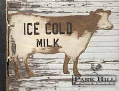 Our Two-sided Metal Ice Cold #MilkSign We carry Park Hill @  RAIL CREEK FURNITURE Co