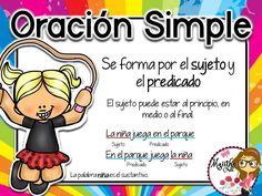 Primary tabs: The parts of speech Bilingual Classroom, Bilingual Education, Kids Education, Spanish Teaching Resources, Spanish Lessons, Grammar Skills, Writing Skills, Elementary Spanish, Bullet Journal School