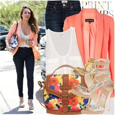 how to wear blazer with jeans and heels 15