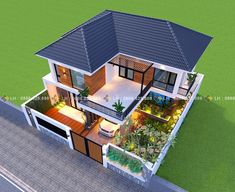 House design Stunning Three-bedroom Contemporary Villa with a Classic Touch - Cool House Concepts Ho Two Story House Design, Modern Small House Design, 2 Storey House Design, Village House Design, Simple House Design, Bungalow House Design, House Front Design, Kerala House Design, Village Houses