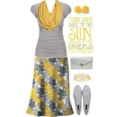 """""""Yellow and Grey"""" by jamie-burditt on Polyvore"""