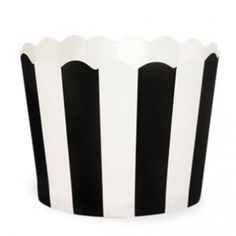 Paper Baking Cups: Black Stripes
