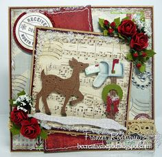 Frances Rodriguez: Be Creative, Be You for  CottageBLOG: Release Day #3 - 9/8/13.  (Dies: Homemade Christmas Gifts - reindeer, mailbox).  (Pin#1: Christmas: Reindeer/...  Pin+: Dies: CottageCutz).