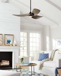 The Melody Ceiling Fan From Monte Carlo Is A Modern 3 Blade Design With  Graceful