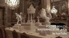 This video shows an exhibition at Waddesdon Manor by Catalonian artist Joan Sallas, who has created an amazing display of elaborately folded napkins and linen after Renaissance and Baroque patterns. The exhibition runs from May to October 2013.
