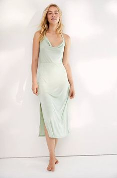Everyone needs a simple, throw-and-go slip dress in her closet, and this oh-so-affordable one comes in six staple colors you can wear year-round. #weddingguestdress #weddingguestoutfit #rehearsaldinnerdress #dressestoweartoawedding #southernliving Dresses To Wear To A Wedding, Event Dresses, Halter Neck Maxi Dress, Rehearsal Dinner Dresses, Dress With Sneakers, Mini Dress With Sleeves, Buy Dress, Free People Dress, Flare Dress