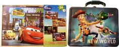 Disney's Cars 4 Wooden Puzzles & Pixar's Toy Story Tin Lunch Box (Blue373):Amazon:Toys & Games
